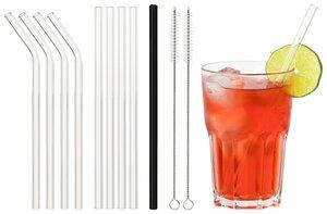 Ecoroyal® Glas Strohhalm   Strohhalm wiederverwendbar   Trinkhalme   9 Stück    - Ecoroyal