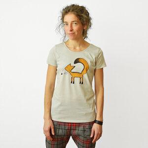 Franzi Fuchs T-Shirt Damen hellgrau - Cmig