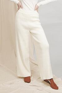 AURORA - Damen High-Waist Strickhose Vegan aus Bio-Baumwolle - CREAM - Woman of Vegan