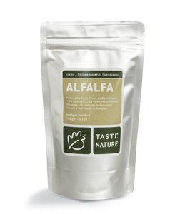 Alfalfa Pulver, 75g, Bio. - Taste Nature
