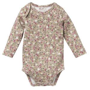 Baby Langarm Body Blümchen reine Bio-Baumwolle - People Wear Organic