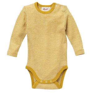 Kinder LA Body gelb geringelt Wolle/ Seide People Wear Organic - People Wear Organic