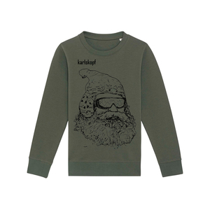 Kinder Sweatshirt Print | SKIFAHRER | karlskopf | 85% Bio-Baumwolle - karlskopf