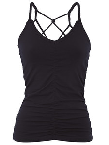 Cable Yoga Top - Black - Mandala