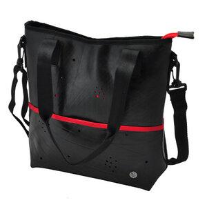 Zina - Damen-Schultertasche und Handtasche in einem - rot mit abnehmbaren Schulterriemen - MoreThanHip