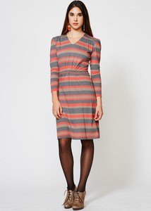 Red Pippa Stripe Dress - People Tree
