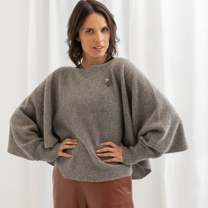 Two-in-one Pullover-Poncho ANNA - meinfrollein