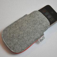 Filz Tasche für SmartPhone und MP3-Player grau - Daff