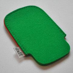Filz Tasche fürs SmartPhone und MP3-Player grasgrün - Daff