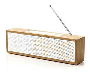 Titanium Clock Radio - Lexon