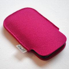 Filz Tasche für SmartPhone und MP3-Player Himbeer - Daff
