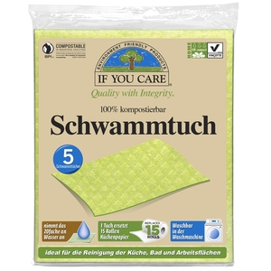 Vegane Schwammtücher im 5er Pack - If You Care (IYC)