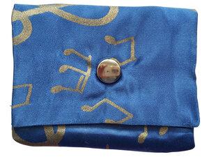 Leesha WILDe Upcycling Mini Portemonnaie Blaue Noten - Leesha
