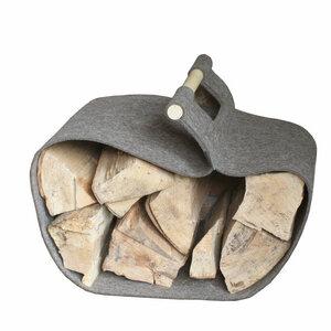 Kaminholztrage Filz von tuchmacherin - edel, robust und praktisch zu handhaben - tuchmacherin - handgewebtes design + filz