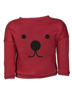 """Baby Sweater Pullover """"Suli"""" aus Buchenholz bordeaux mit Druck - CORA happywear"""