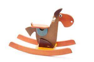 Schaukeltier Pferd Elisabeth blau/braun/gelb - tède