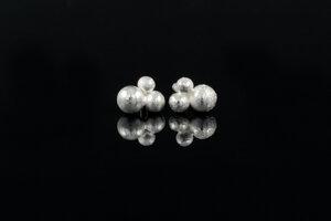 Fairtrade - 3 Kügelchen Ohrringe Silber - Likedeeler