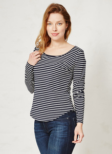 Bamboo Basics Tee Navy Stripe - Thought | Braintree