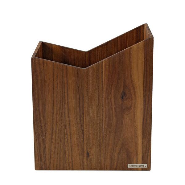 naturehome papierkorb 20 x 30x 35 cm bxtxh massiv holz aus nussbaum serie skript avocadostore. Black Bedroom Furniture Sets. Home Design Ideas