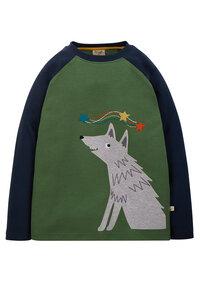 Frugi Shirt Kinder Wolf grün - Bio-Baumwolle - Frugi