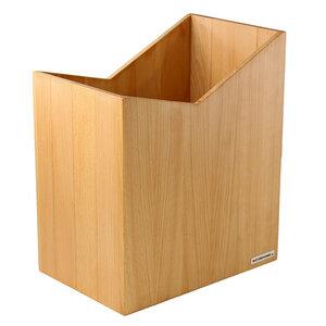 Papierkorb 20 x 30x 35 cm  (BxTxH) Massiv-Holz Buche Serie SKRIPT - NATUREHOME