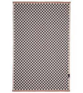 """Teppich """"Schachbrett"""" mit Saum aus Recyclingbaumwolle, 75 x 120 cm - David Fussenegger"""