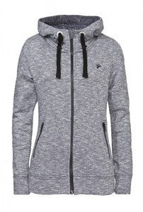 Frauen Zipper FRAUKE grau heavy - recolution