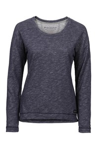 Frauen Sweater Marlies blau gesprenkelt - recolution