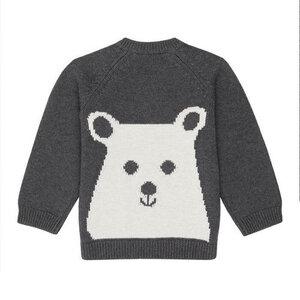 Baby Strick Sweater *VICTOR* Polar Bear GOTS I Sense Organics - sense-organics