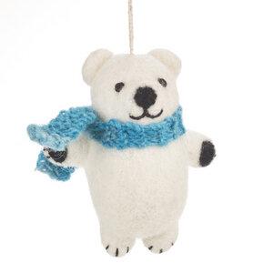 Eisbär Weihnachtsanhänger aus Filz - Just Be