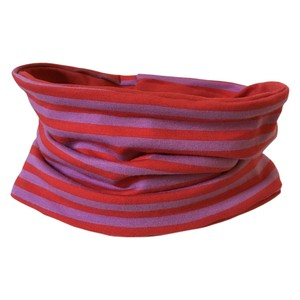 Loop, flieder/rot geringelt - bingabonga