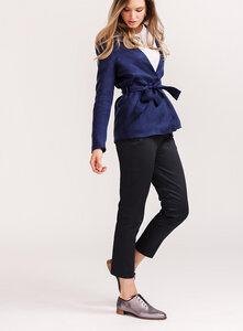 Damen Stoffhose Josephine aus Bio-Baumwolle - l'amour est bleu