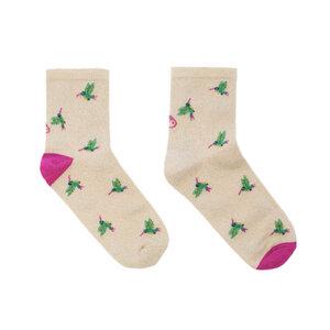 Vegane Socken COLIBRI BEIGE aus Bio-Baumwolle - Lolo Carolo