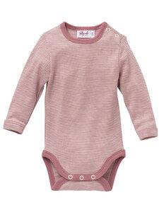 Baby Langarm Body Bio-Wolle/Seide - People Wear Organic