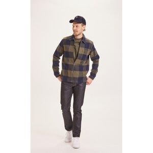 Hemd PINE Overshirt Karo aus Bio-Baumwolle - KnowledgeCotton Apparel