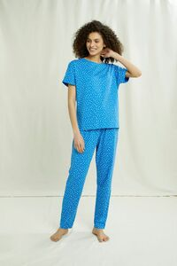 Pyjama Shirt | Hearts Pyjama Tee - People Tree
