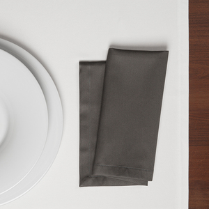 Serviette TABLO Bio Baumwolle 2tlg - 45x45 - Espresso; Schiefer oder Weiß - NATUREHOME
