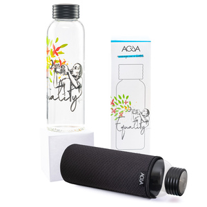 Trinkflasche aus Glas 0,75l inkl. Thermo-Sleeve - ACUA Bottles