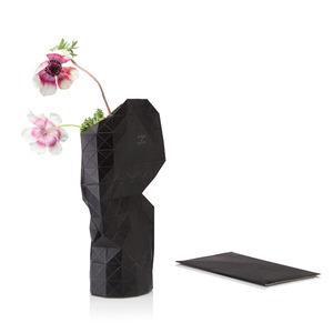 Paper Vase Cover - Dutch Design Papiervase - schwarz - Pepe Heykoop