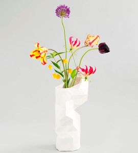 Paper Vase Cover - Dutch Design Papiervase - weiss - Pepe Heykoop