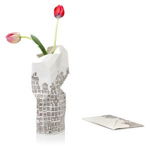 Paper Vase Cover - Dutch Design Papiervase - Grachtenhaus - Pepe Heykoop