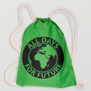 """All Days For Future"" City Beutel Bioabaumwolle (kbA) - HANDGEDRUCKT"