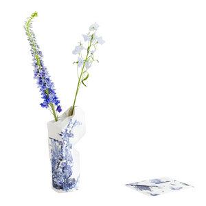 Paper Vase Cover - Dutch Design Papiervase - Delfts blau - Pepe Heykoop