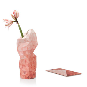 Paper Vase Cover - Dutch Design Papiervase - red gradient - Pepe Heykoop