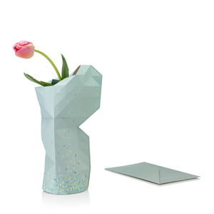 Paper Vase Cover - Dutch Design Papiervase - Green Ants - Pepe Heykoop