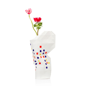 Paper Vase Cover - Dutch Design Papiervase - Bauhaus - Pepe Heykoop
