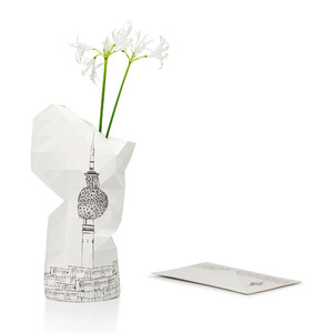Paper Vase Cover - Dutch Design Papiervase - Berlin - Pepe Heykoop