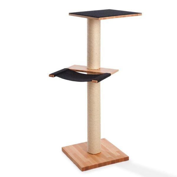 manufaktur kratzpfote kratzbaum mit h ngematte lamina magna buche avocadostore. Black Bedroom Furniture Sets. Home Design Ideas