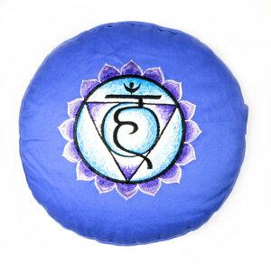 Chakra Meditations- und Yogakissen, rund - Just Be