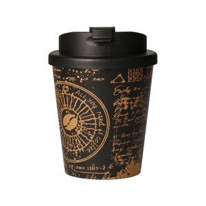 bunter Kaffeebecher aus Bio-Kunststoff 250 ml auslaufsicherer Coffee To Go mit Motiven - Uakeii.